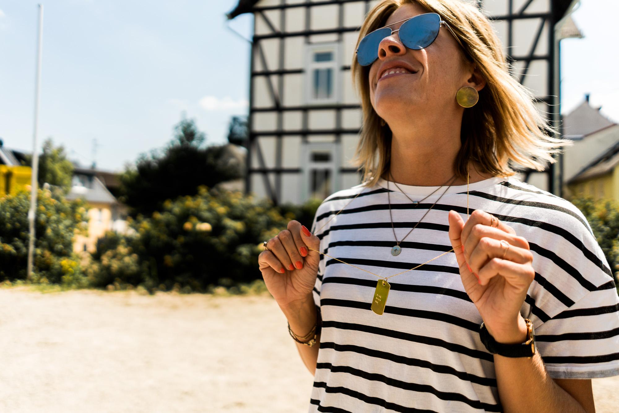 Alleskönner Streifenshirt: Ein letzter sommerlicher Outfit-Gruß aus Martinsthal
