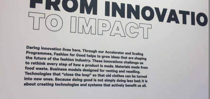 Von Innovation zu Impact in der nachhaltigen Mode